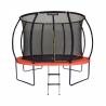 Trampolína Marimex Premium 305 cm má nosnost až do 150 kg. Obsahuje 56 pružin. Maximální stabilitu jistí 4 kvalitní nohy. Trampolína je odolná vůči UV záření, což prodlužuje životnost. Speciálníneadhezivní povrchová úprava brání odřeninám při pádu. Součástí balení ježebřík a ochranná síť.