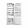 Kombinovaná vestavná chladnička s mrazničkou dole WHIRLPOOL SP40 801 EU 1. Chladnička disponuje celkovým úžitkovým objemem 400 l. Zajišťuje nízkou spotřebu energie se zařazením do energetické třídy F (norma 2021). Chladící prostor sa skládá z 5 skleněných polic a MAXI zásuvky na ovoce a zeleninu. Mrazící prostor se dělí na 3 přihrádky. Disponuje 6. smyslem, který zaručuje přesnou a stálou kontrolu teploty.