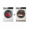 Sestava pračky L8FEE68SC a sušičky T8DEE68SC od stejného výrobce AEG, je ideální kombinací pro Vaši domácnost. Zatímco doperete a budete se chystat na další várku, můžete mezitím vysušit již vyprané prádlo. Oba spotřebiče jsou atraktivní, protože jsou vybaveny funkcemi, které šetří čas, vodu a energii, pračka energetická třída: C (energetická norma 2021) a sušička A+++. Kapacita praní prádla je 8 kg.