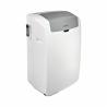 Tato mobilní klimatizaceznačky Whirlpool nabízí 4 režimy: chlazení, ventilace, odvlhčování a vytápění.  Je zabezpečená nízká spotřeba, protože je zařazená do energetické třídy A +. Chladicí výkon představuje 3 kWh. Tento model klimatizace je vhodný do místnosti 35 m2.