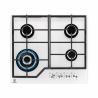Elegantníplynová varná deskaElectrolux KGG6436W je vybavena čtyřmi hořákys různou velikostí. O stabilitukuchyňského nádobí se starají dvě mřížky, které se nachází na hořácích. Varnou deskuovládáteprostřednictvím čtyř knoflíků. Součástí jeelektrické zapalování. Velkou výhodou jetermpojistka, která chrání Vaší domácnost.