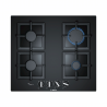 Vestavěná plynová deskaznačkyBOSCH PPP6A6B20jevyrobená z černého tvrzeného skla. Je vybavenačtyřmi hořáky. FunkceFlame Selectnabízí až 9 stupňů teploty. Plynovou varnou desku ovládáte pomocí4 otočných knoflíků. K dispozici jetermpojistka, která ochrání Vaši domácnost.
