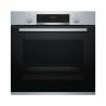 Vestavná troubaznačkyBOSCH HBA534ES0 nabízí až7 variant pečení. Velkou výhodou je3D horký vzduch. Nabízí režimy:horní a spodní ohřev, cirkulační infra gril, velkoplošný gril, pizza, jemný horkovzduch. Elektronické ovládání (50 - 275 °C). Součástí ječasovač, se kterým můžete nastavit dobu pečení.