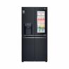 Tato dvoudveřová americká chladnička značky LG GMX844MCKV spadá do energetické třídy A+ (nízká spotřeba energie). Celkový čistý objem - 423 l. LED osvětlení Vám zajistí dokonalý přehled uvnitř chladničky. K dispozici WiFi připojení. Tichý provoz zajištěn, maximální hlučnost - 40 dB.