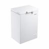 Tato truhlicová mraznička Goddess FTE0100WW8 Vám zaručí nízkou spotřebu energie (energetická třída A +). Maximální kapacita je 100 l. Mrazicívýkon je 5,5 kg potravin za 24 h. Maximální hlučnost jen 42 dB. Potraviny můžete skladovat velmi přehledně díky drátěnému košíku, který je součástí mrazničky.