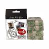 Tento film (4 x 10) od FUJIFILM je určený pro všechny typy instantního fotoaparátu INSTAX MINI. Film obsahuje kazetu, která se vkládá přímo do fotoaparátu. Jedna kazeta obsahuje 10 snímků. Samozřejmostí je jasná a ostrá reprodukce. Fotografie, která je v kazetě, má rozměry46 x 62 mm a čtvercový formát. Fotky můžete zhotovit v rozmezí teplot od 5 - 40 °C.
