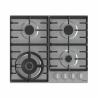 Plynová varná deskaGorenje GW 641 X disponuječtyřmi plynovými hořáky. Na hořácích se nacházílitinové mřížky pro lepší stabilitu hrnců, ve kterých vaříte. Velkou výhodou jebezpečnostní pojistka hořákůs elektrickým zapalováním, prostřednictvím ergonomických knoflíků. Součástí je iWOK hořáks vyšším výkonem, který je určený zejména pro asijskou kuchyni. Varný panel jevyrobený z hladkého povrchu, takže jehoúdržba je velmi jednoduchá.