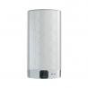 Ariston Velis EVO je kovově-stříbrný ohřívač vody, který má celkový objem nádrže až 65 l a výkon topného tělesa 1,5 kW. Tento typ bojleru disponuje novinkou Wi-Fi připojení. Toto Vám usnadní především nastavení optimální teploty a objemu vody i na dálku. Aktuální teplotu vody je možné zkontrolovat na LED displeji, kde lze zároveň i nastavit potřebnou teplotu na ohřátí. Zkontrolovat se dá také aktuálně dostupný počet sprch a za jaký čas bude připravena voda na další sprchu. Bojler patří do energetické třídy B. Ariston Velis EVO WI-FI 80 lze nainstalovat podle potřeby a to horizontálně nebo vertikálně.