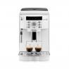 Automatický kávovar DELONGHI ECAM 22110W v bílé barvě. Kávu můžete připravovat až do dvou šálků najednou. Objem zásobníku na vodu je 1,8 l. Příkon 1450 W a parný tlak 15 barů Až 13 stupňů hrubosti mletí.  Velikost zásobníkuna kávu je 250 g.