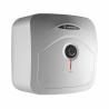 Elektrický ohřívač vody Ariston ANDRIS R 30, který můžete nainstalovat nad nebo pod umyvadlo. Disponuje kompaktními rozměry a vejde se všude. Celkový objem činí 30 l. Výkon je 1,5 kW. Teplotu si regulujete pomocí otočného termostatu. Vodu dokáže udržet dlouhodobě teplá hrubá polyuretanová izolace. Spotřebič patří do energetické třídy C.