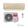 Klimatizace na stěnu Vivax ACP-12CH35AERI GOLD je při chlazení zařazená do energetické třídy A ++ a při vytápění do A +. Místnost, kterou dokáže zařízení vychladit a vytopit je do 45 m2. Součástí je vnitřní i venkovní jednotka. Speciální 3D invertor zabezpečuje nízkou spotřebu energie, dlouhou životnosta tichý provoz. Čistota vzduchu je zaručená díky bio filtru a ionizátoru. Zařízení je možné ovládat i prostřednictvím WiFi, pokud si zakoupíte WiFi modul.