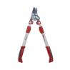 Tyto nůžky na větveWOLF GARTEN RR 900 T mají čtyřnásobný přenos síly. Speciálně ostřený a nepřilnavý povrch. Teleskopická a ergonomickárukojeť. Stříhatmůžete větve až do průměru 50 mm. Eloxovaná konstrukce s dvounožovými čepelemi.