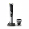 Holící strojek Philips OneBlade Pro QP6520/20 funguje na principu dvojí ochrany. Zastřihuje na bázikopírování obrysu tváře. Použití: mokré/suché holení. Strojek vydrží v plném provozu90 minut. Holí, zastříhává a tvaruje. Máhřebenový nástavec až se 14 délkami střihu.