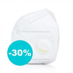 Ochranná maska zachytí 95 % vírů (s výdechovým ventilem)