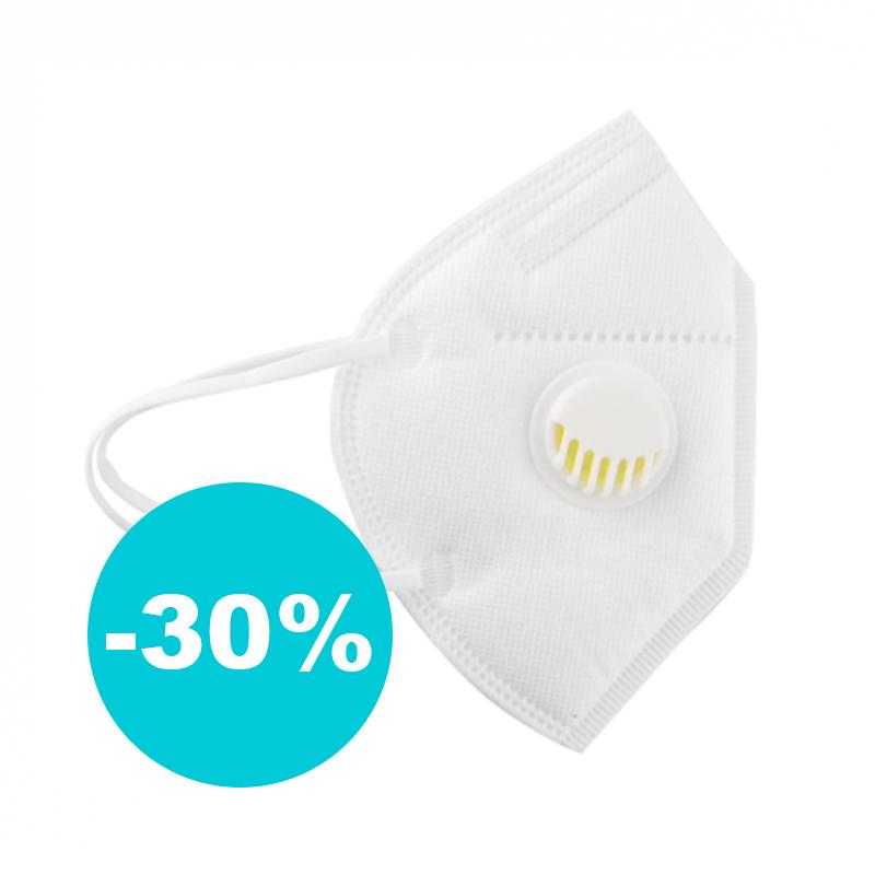 Ochranná maska zachytí 99 % virů (s výdechovým ventilem)