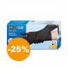 Černé jednorázové nitrilové rukavice velikosti M. Jsou odolnévůči přetrhnutí. Jsou vysocechemicky odolné a jsou vhodné ina práci s agresivní chemii. Rukavice jsoubez zápachu. Jemná texturabrání klouzání. Jejich výhodou jsou, že jsoudvouvrstvé.