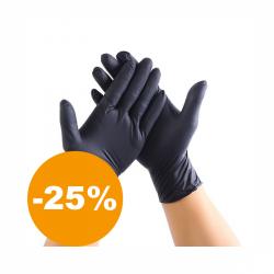 Nitrilové jednorázové rukavice velikosti XL 60 ks (černé)