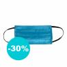 Ochranná rouška je vyrobená ze 100 % polypropylenu. Hrubost vlákna představuje 0,22 mm. Rouška je trojvrstvá. Nabízíme ji v barvě: zdravotnická modrá/masterbatch.