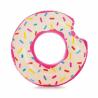 Nafukovací kruhIntex Donutse stylovým designem aimitací barevného posypu. Vyrobené zodolného a certifikovaného vinyluvysoké kvality. Realistická grafikavšemi oblíbeného donutu. Průměr kruhu je114 cm.