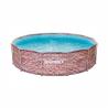 Kruhový bazén s konstrukcíMarimex Florida 3,66 x 0,99 m CIHLA 10340243. Celkový objem bazénu je9 400 l. Pevná kovová konstrukce splastovými patkami. Trojvrstvá laminovaná fólie s polyesterovou výztuhou(Polystrenght) tvoří stěny a dno bazénu. Vnitřní strana bazénu je ve stylu modré mozaiky a venkovní strana jev cihlovém vzoru.