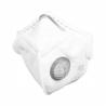 Respirátorna tvář značky Refil s ochranou FFP3 typu NR. Součástí je výdechový ventil.  Respirátor je navržený, jako prevence před coronavirem. Tento respirátor poskytuje nejúčinnější ochranu před bakteriálními a vírovými aerosolovými látkami. Zaručuje nejvyšší stupeň bakteriální ochrany až na 24 hodin (nepřetržitě). Respirátor není možné z hygienických důvodů vrátit!
