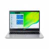 """Notebook Acer Aspire 3 Pure Silver s velikostí úhlopříčky 15,6"""" v rozlišení 1920 x 1080 px. Kapacita operační paměť - 8 GB. Operační systém Windows 10 Home. Pevný disk - 512 GB. Maximální výdrž baterie - 9 hodin. Baterie je dvoučlánková."""