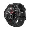 """Chytré hodinky Amazfit T-Rex Rock Black jsou kompatibilní s OS: Android 5.0, Android 6.0, Android 7.0, Android 8.0, Android 9.0, iOS 10, iOS 11. Nabízí zajímavé funkce:notifikace z mobilního telefonu, přehrávač hudby, stav baterie, hledání mobilního telefonu, měření tepu, sledování spánku, krokoměr, výpočet kalorii, intervalový trénink, měření rychlosti, měření vzdálenosti, měření tempa, GPS, kompas, akcelerometr, výškoměr, glonass, gyroskop, intenzita světla. Digitálnízobrazení času. Kulatý tvar ciferníku. Úhlopříčka displeje:1,3"""". Vodotěsný až do 50 m. Výdrž baterie:480 h."""
