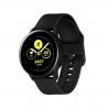 """Chytré hodinky Samsung Galaxy Watch ActiveBlack jsoukompatibilní s operačním systémem: Android, iOS. Určitě Vás zaujmou ichytré funkce, jako jsouupozornění z mobilního telefonu, ovládání mobilního telefonu, vibrace, stav baterie, hledání mobilního telefonu. Úhlopříčkadispleje má1,1"""". Velkou výhodou jevodotěsnost do hloubky 50 m. Inteligentní hodinky dokážou zaznamenat rozmanité aktivity, jako:běh, triatlon, cyklistika, plavání, fitness, lyžování, golf, veslování, jachting, chůze, jóga, horolezectví, potápění, turistika. Běžná výdrž baterie -45 hodiny."""