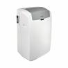 Tato mobilní, revoluční a kvalitní klimatizace je Vaší záchranou před horkými letními dny a nabízí kvalitní osvěžení. Zabezpečuje funkci chlazení, ohřívání a odvlhčování.  Praktické je ovládání přes dálkové ovládání. Díky úsporné třídě A je zaručená nízká spotřeba energie.  Chladicí výkon: 2,8 kW vychladí místnost do 35 m2.
